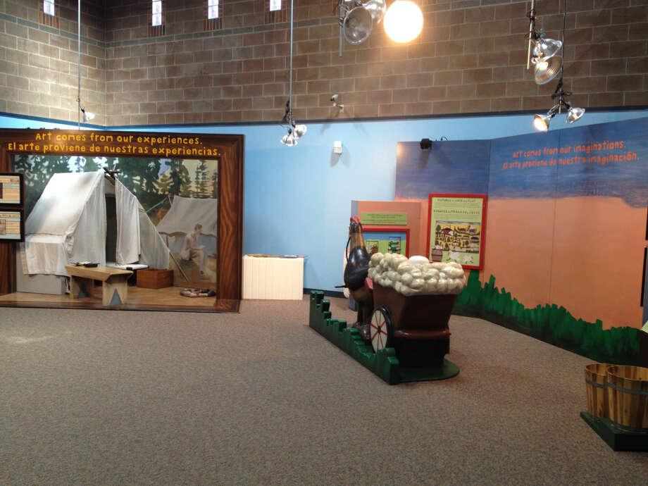 """""""Framed: Step Into Art"""" exhibit at Fredda Turner Durham Children's Museum Photo: Rich Lopez"""