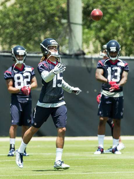 The Texans' top draft pick, wide receiver Will Fuller, goes through the paces at rookie minicamp Friday. Photo: Brett Coomer, Staff / © 2016 Houston Chronicle
