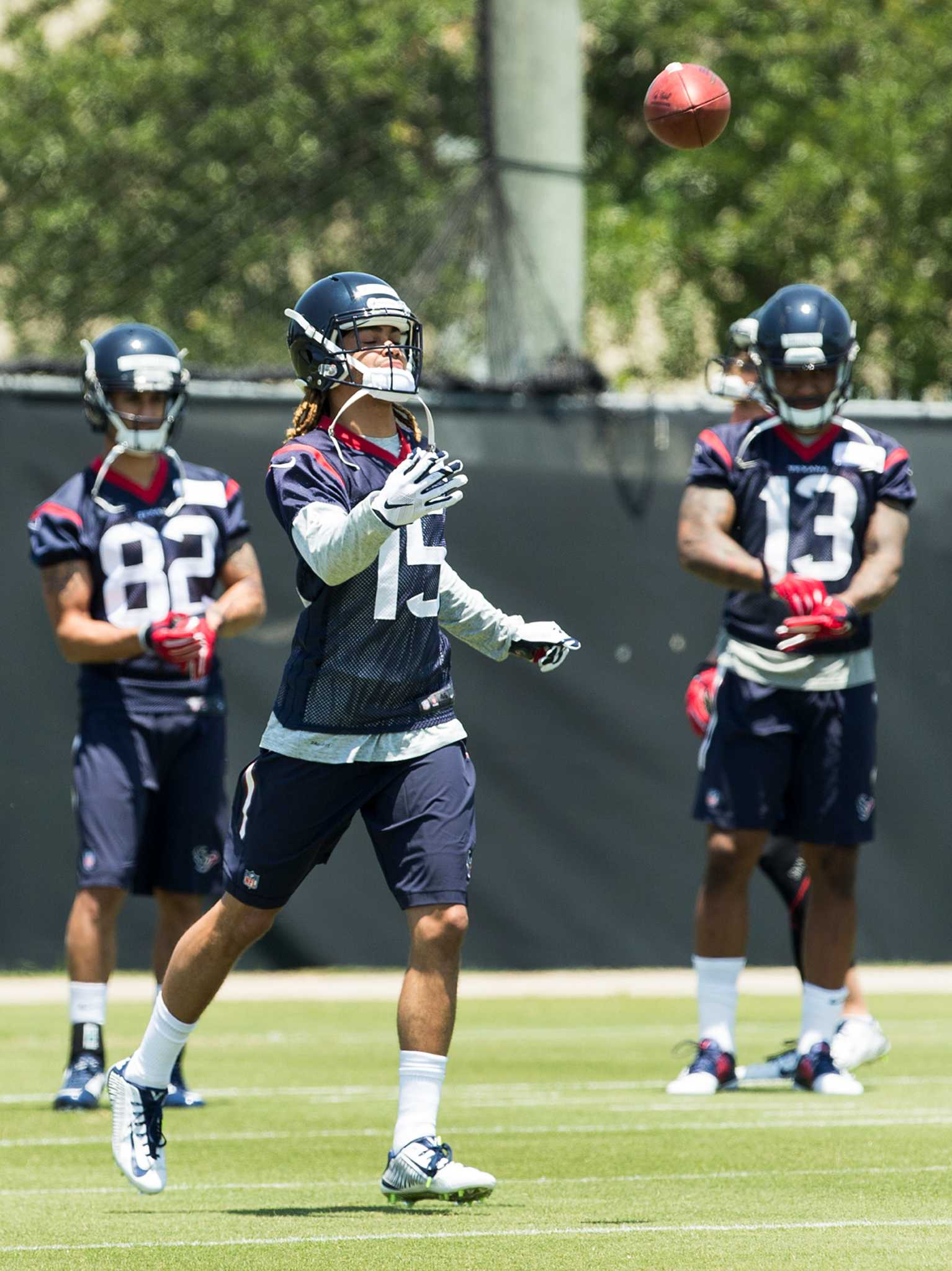 db0ec7eba Texans report  Even the speedy Will Fuller awed by speed of game -  HoustonChronicle.com