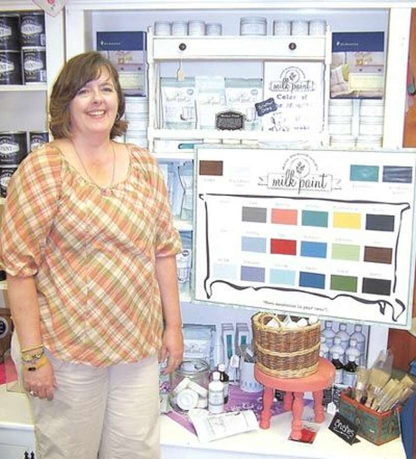 Pam Christian, store manager at The Cedar Chest, is ready to help you learn how to get the most from Miss Mustard Seed's Milk Paint. The Cedar Chest is the only authorized dealer in this area.