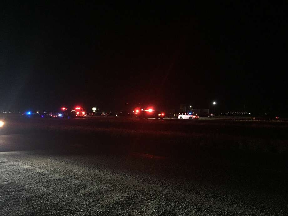 Two people were injured Saturday in a wreck on State Highway 191. Photo: Tyler White\Reporter-Telegram