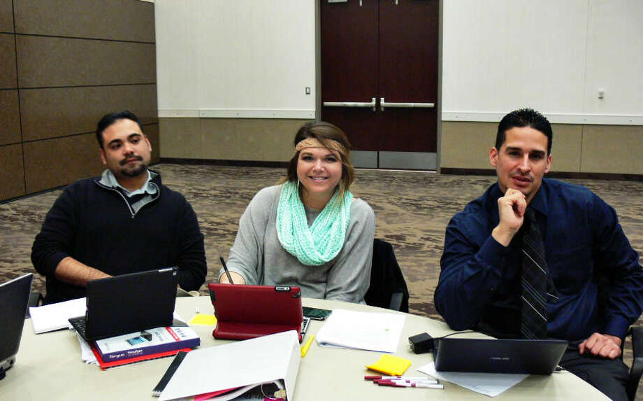 Eric Lucero, Trazi Wihebrink and Jose Garcia attended two training sessions Oct. 7-8 and Nov. 16-17 geared towards helping students attain higher STAAR scores. Lucero, Wihebrink and Garcia teach 7th grade math and were the only team from MISD to attend the Texas ACSD-sponsored seminars.