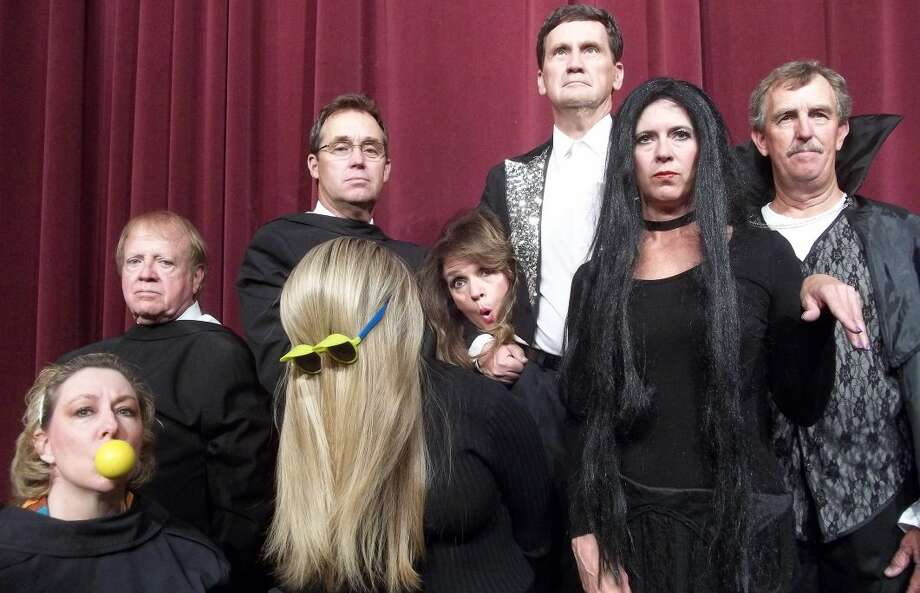 "The cast celebrates Halloween Addams Family style in ""Cindy Ward and Friends present Holiday Inn,"" a revue at Permian Playhouse. Photo: Courtesy Photo"