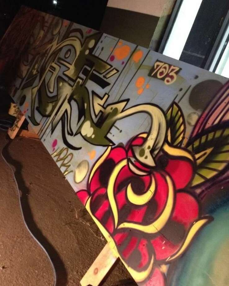 Graffiti art from Kamiposi's First Friday event in August. Photo: Photo Via Facebook
