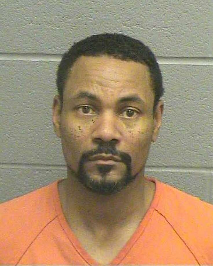 Benjamin Constantine Anderson, 43,was arrested on Dec. 1 after sitting on a woman's chest and squeezing her neck, according to court documents.Anderson was being held Dec. 2 on a $25,000 bond for a third-degree felony charge of assaulting a family or household member by impeding breath.