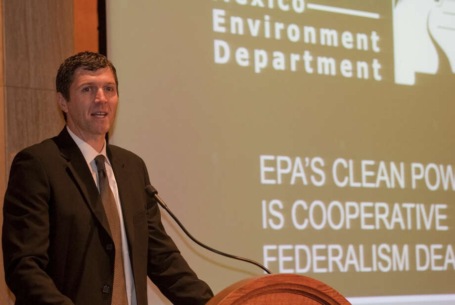Ryan Flynn New Mexico Secretary of the Environment speaks at the Permian Basin Petroleum Association morning breakfast Thursday for the annual meeting. Tim Fischer\Reporter-Telegram Photo: Tim Fischer