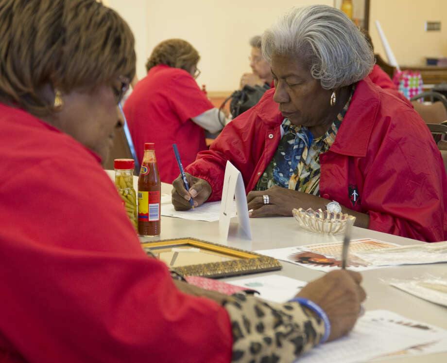 FILE PHOTO: Lola Striggles and others fill out forms Tuesday 11-17-2015 as she and other Foster Grandparents attend a training session at the SE Senior Center. Tim Fischer\Reporter-Telegram Photo: Tim Fischer