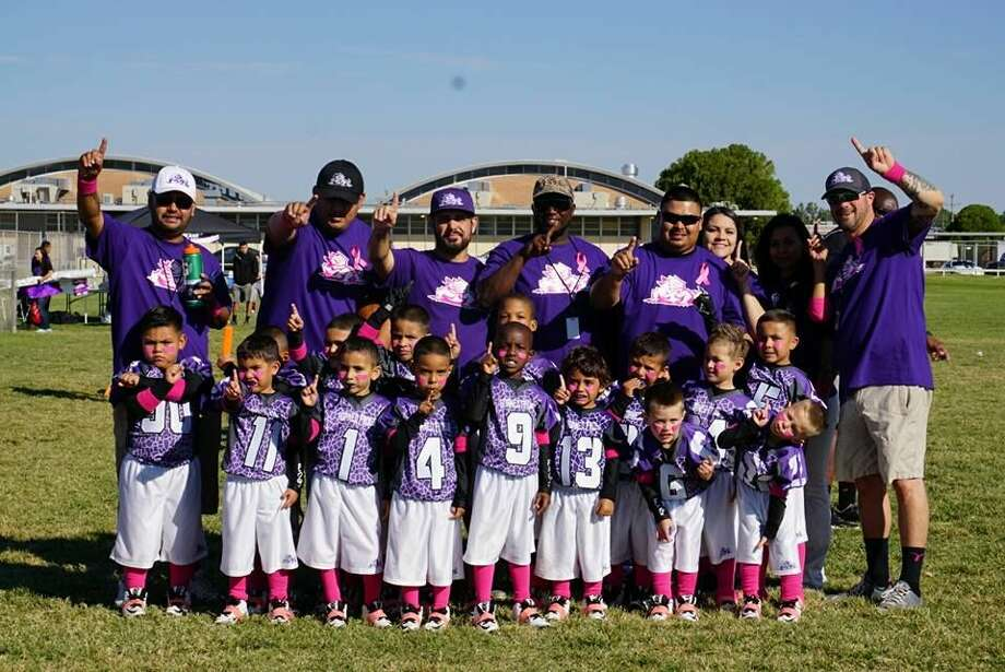 The Midland Horned Frogs flag football team poses for a photo after a recent victory. Photo: Courtesy Photo