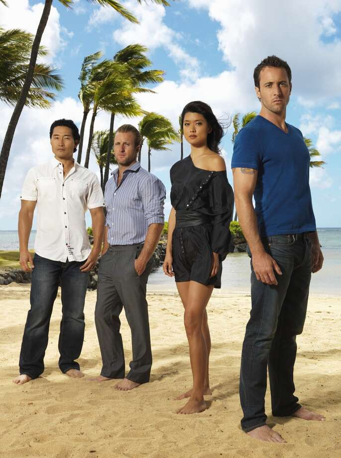Daniel Dae Kim (far left) and Grace Park (second from right) will leave Hawaii Five-0 after the network refused to pay them as much as their white costars, Variety reports. Photo: Kevin Lynch, CBS