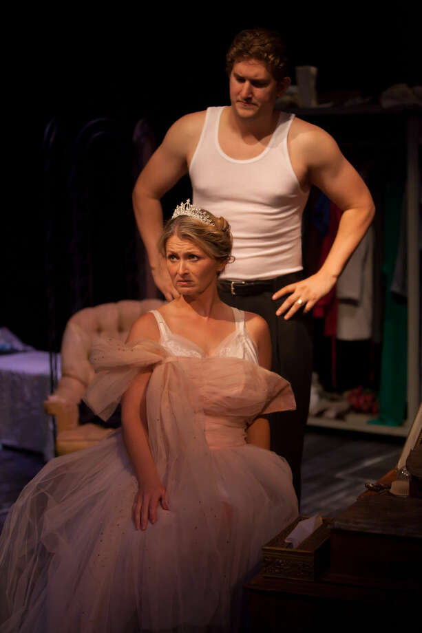 Stanley Kowalski, played by Cody Petty, meets his match in Blanche DuBois, played by Laura Bond, at Midland Community Theatre. Photo: Courtesy MCT