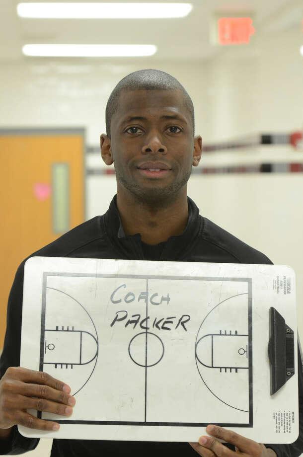 Lee High basketball mugs Coach Chris Packer James Durbin/Reporter-Telegram