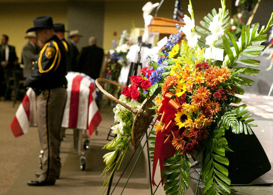 Funeral ceremony for Midland County Sheriff's Dept. Sgt. Mike Naylor on Tuesday at Crestview Baptist Church. James Durbin/Reporter-Telegram Photo: James Durbin