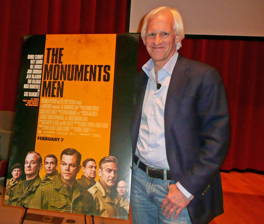 Florence Phillips, left, of Cos Cob, met up recently with Robert Edsel, author of the book, âÄúThe Monuments Men,âÄù which has been made into a major motion picture that premiers Friday in New York City. Phillips' father, the late Mason Hammond, served as the first Monuments Man in World War II, according to Edsel, and was assigned the task of recovering and protecting art stolen by the Nazis. Photo: Anne W. Semmes