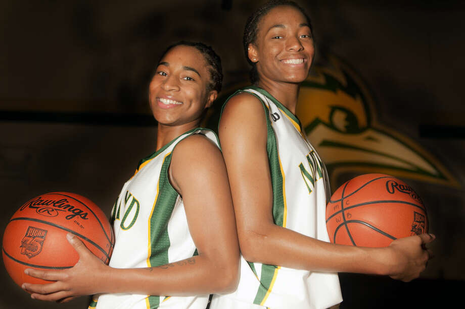 Midland College women's basketball players Tajanay Veiga, left, and Mary Savoy, right, look to lead the Lady Chaps to the national tournament this season. James Durbin/Reporter-Telegram Photo: James Durbin