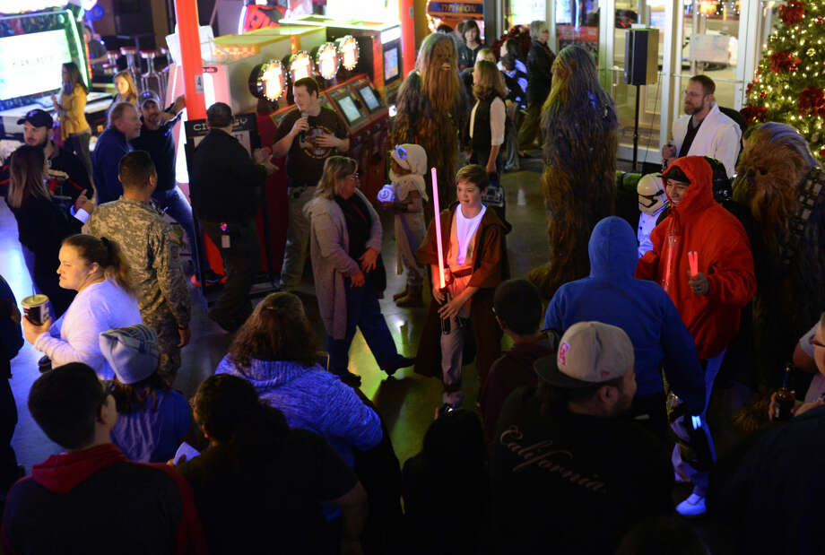 Cinergy cinema hosted a 72 hour fan event beginning with a costume contest to celebrate the opening of Star Wars: The Force Awakens, on Thursday, Dec. 17, 2015. James Durbin/Reporter-Telegram Photo: James Durbin