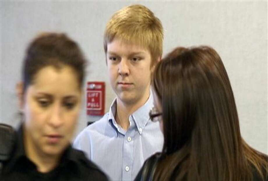 "FILE - In this December 2013 image taken from a video by KDFW-FOX 4, Ethan Couch is seen during his court hearing in Fort Worth, Texas. Authorities are investigating whether Couch, who killed four people in a 2013 drunken-driving wreck, and claimed as part of his defense that he suffered from ""affluenza"", has fled with his mother to avoid a potential violation of his probation. (AP Photo/KDFW-FOX 4, File) Photo: TEL"