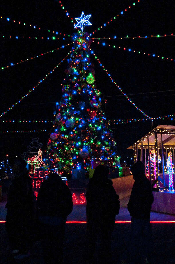 Greater Ideal Baptist Church turns on the lights for Miracle on Tyler Street Monday evening across from the Greater Ideal Family Life Center. Tim Fischer\Reporter-Telegram Photo: Tim Fischer