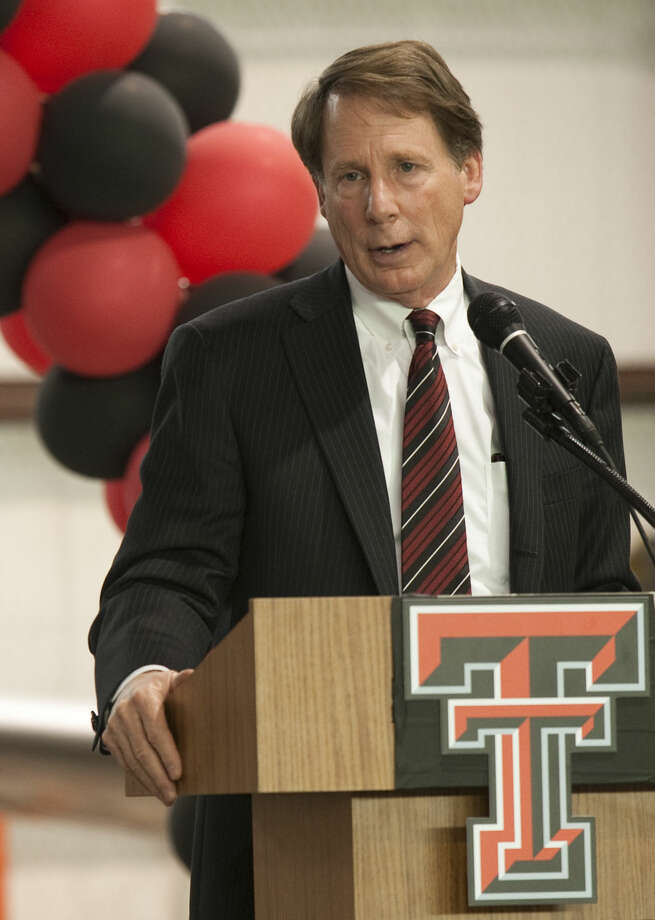 Texas Tech Chancellor Robert Duncan speaks Wednesday at a Red Raider luncheon at the CAF. Tim Fischer\Reporter-Telegram Photo: Tim Fischer