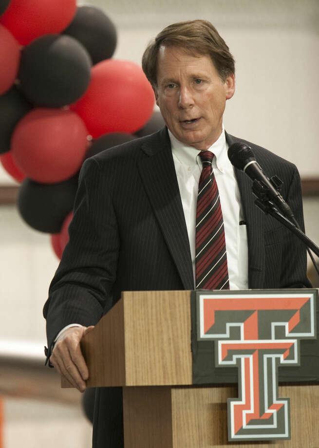 Texas Tech Chancellor Robert Duncan speaks Wednesday at a Red Raider luncheon at the CAF. Tim Fischer\Reporter-Telegram Photo: Tim Fischer