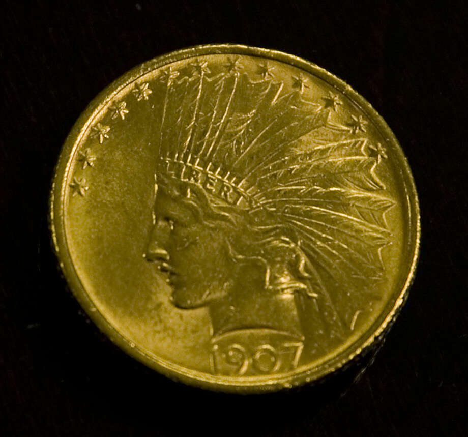 1907 $10 Indian Head gold coin that was dropped in a Salvation Army red kettle outside Hobby Lobby like in previous years. Tim Fischer\Reporter-Telegram Photo: Tim Fischer