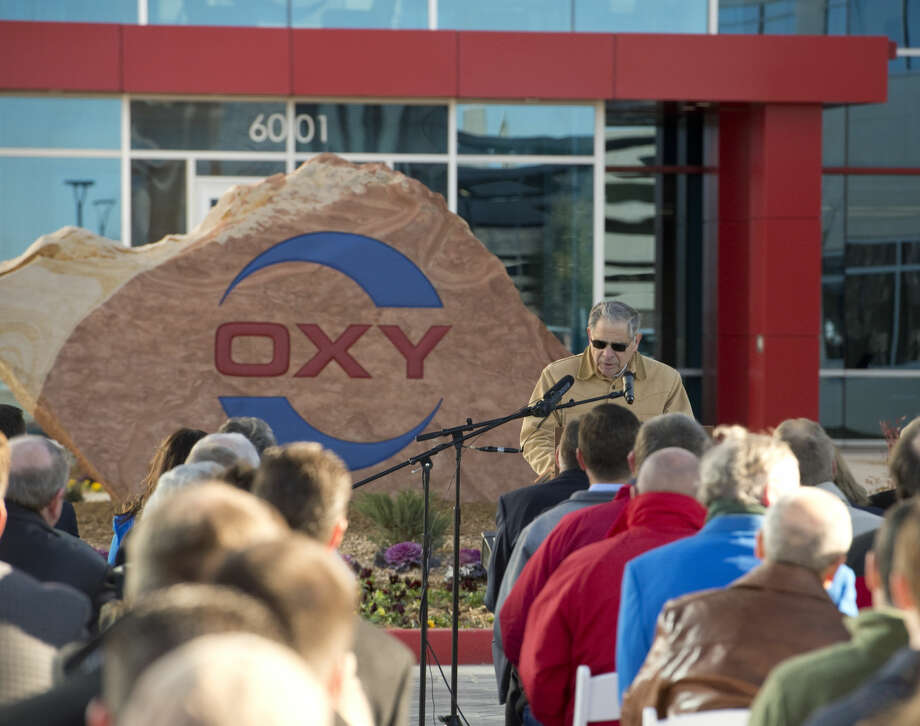 Stephen Chazen, chief executive officer Oxy, speaks Friday 12-18-2015 at the opening of the new Occidental Petroleum Corporation Midland office complex. Tim Fischer\Reporter-Telegram Photo: Tim Fischer