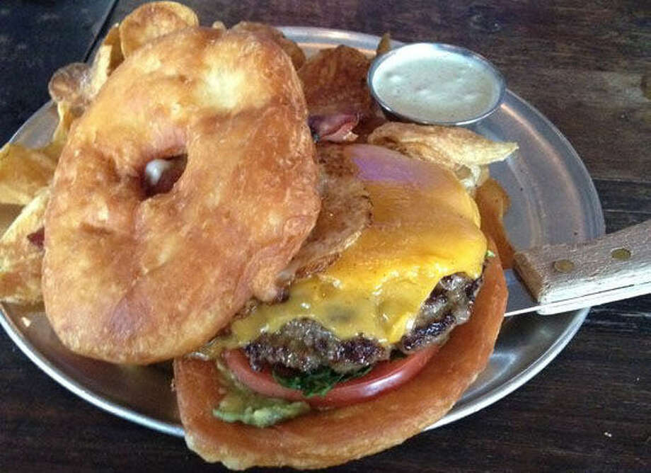 Doughnut burgers at Gordough's in Austin are hardly guilt-free but worth it. Photo: Photo By Rich Lopez