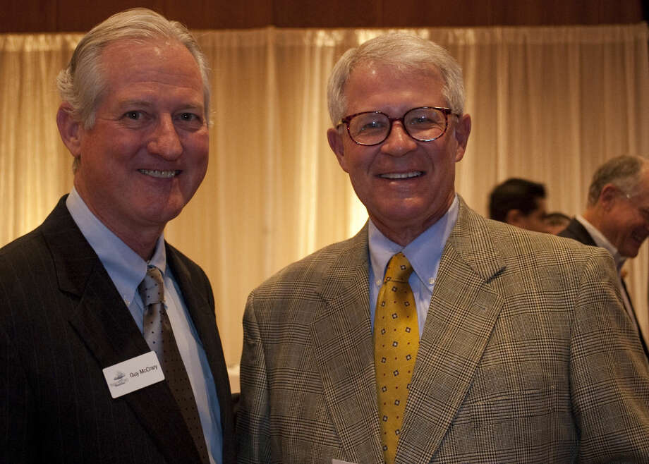 Guy McCrary and Jack Swallow at the Permian Basin Area Foundation 25th Anniversary celebration Thursday evening. Tim Fischer\Reporter-Telegram Photo: Tim Fischer