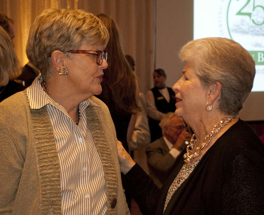 Fran Billingsley talks with Vera Dulaney at the Permian Basin Area Foundation 25th Anniversary celebration Thursday evening. Tim Fischer\Reporter-Telegram Photo: Tim Fischer