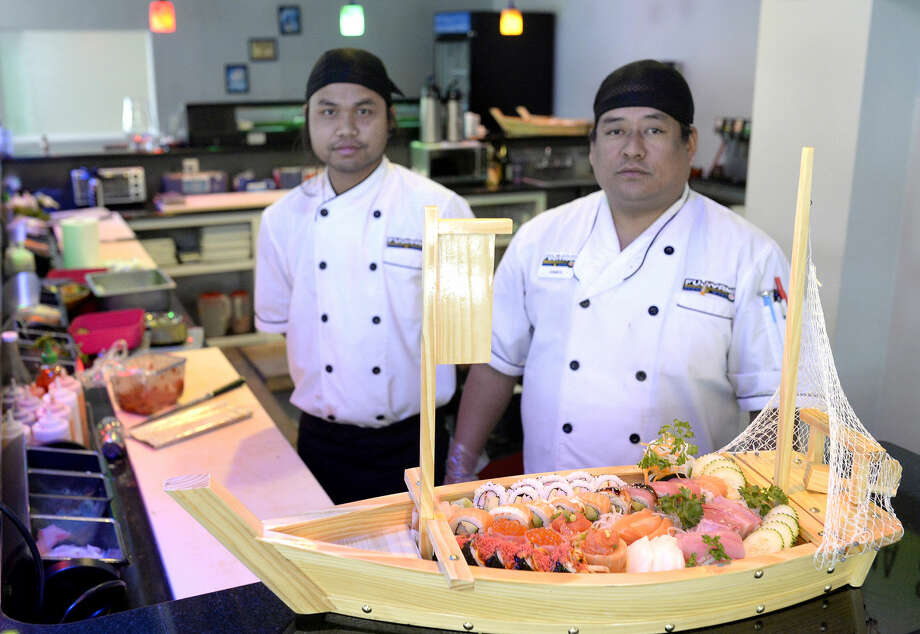 Restaurant co-owners Bruce Luai (left) and James Durna (right) at Fujiyama Sushi and More. Photo: James Durbin