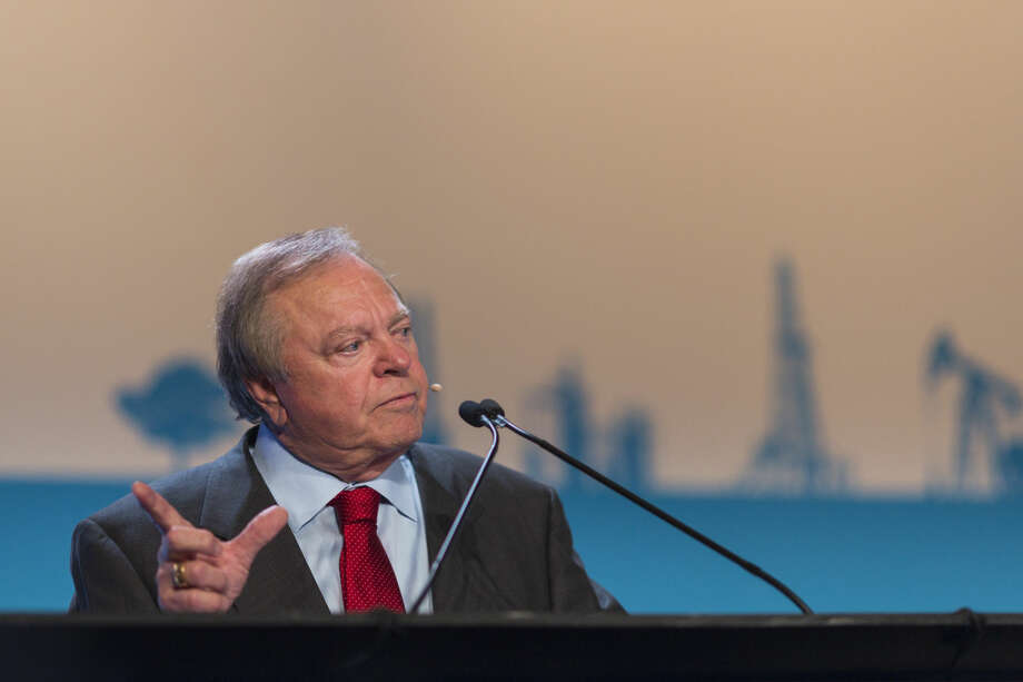 Harold Hamm, chairman and chief executive officer of Continental Resources Inc., speaks during the 2015 IHS CERAWeek conference in Houston, Texas, U.S., on Tuesday, April 21, 2015. CERAWeek 2015, in its 34th year, will provide new insights and critically-important dialogue with decision-makers in the oil and gas, electric power, coal, renewables, and nuclear sectors from around the world. Photographer: F. Carter Smith/Bloomberg *** Local Caption *** Harold Hamm Harold Hamm, chairman and chief executive officer of Continental Resources Inc., speaks during the 2015 IHS CERAWeek conference in Houston, Texas, U.S., on Tuesday, April 21, 2015. CERAWeek 2015, in its 34th year, will provide new insights and critically-important dialogue with decision-makers in the oil and gas, electric power, coal, renewables, and nuclear sectors from around the world. Photographer: F. Carter Smith/Bloomberg *** Local Caption *** Harold Hamm Photo: F. Carter Smith