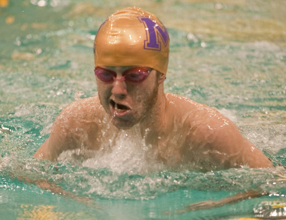 Zach Breeding competes in the men's 200M IM Saturday at the Midland Invitational at COM. Tim Fischer\Reporter-Telegram Photo: Tim Fischer