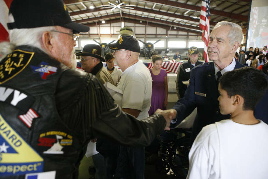 Rusk Elementary's annual Veteran's Day program Thursday at the CAF. James Durbin/Reporter-Telegram Photo: JAMES DURBIN