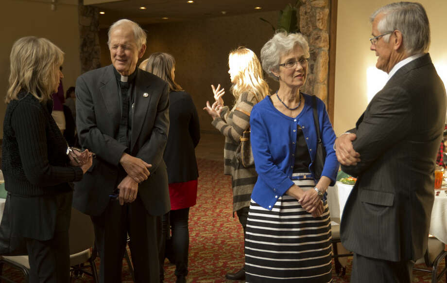 Area leaders talk Thursday 12-17-2015 during a luncheon honoring area non-profits who received grants from The Prairie Foundation. Tim Fischer\Reporter-Telegram Photo: Tim Fischer
