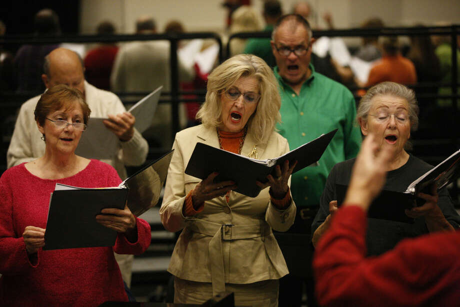 Allegro Chorale rehearsal Monday at Wagner Noel Performing Arts Center. James Durbin/Reporter-Telegram Photo: James Durbin
