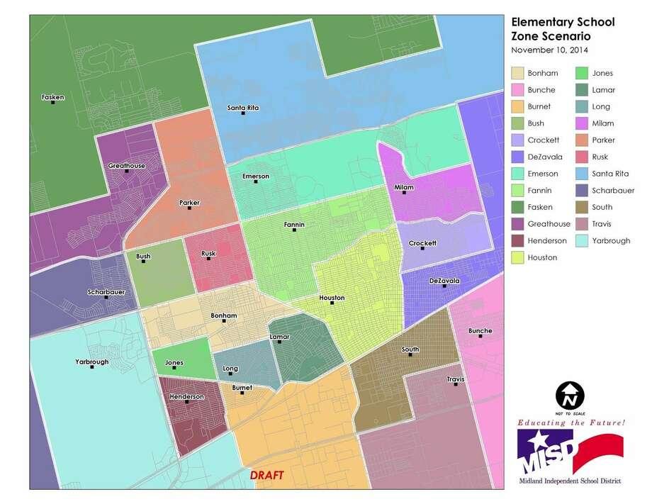 Photo: Map Courtesy Of Midland ISD