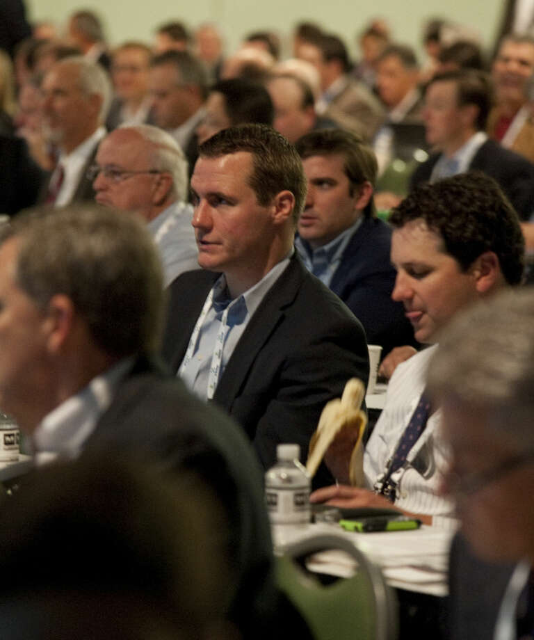 Thousands fill the seating area Tuesday morning at the Executive Oil Conference at the Midland Horseshoe. Tim Fischer\Reporter-Telegram Photo: Tim Fischer
