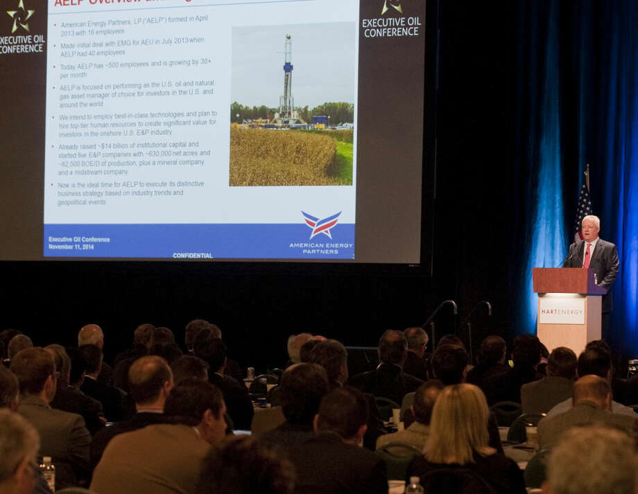 Jeffrey Fisher COO of American Energy Partners speaks Tuesday morning at the Executive Oil Conference. Tim Fischer\Reporter-Telegram Photo: Tim Fischer