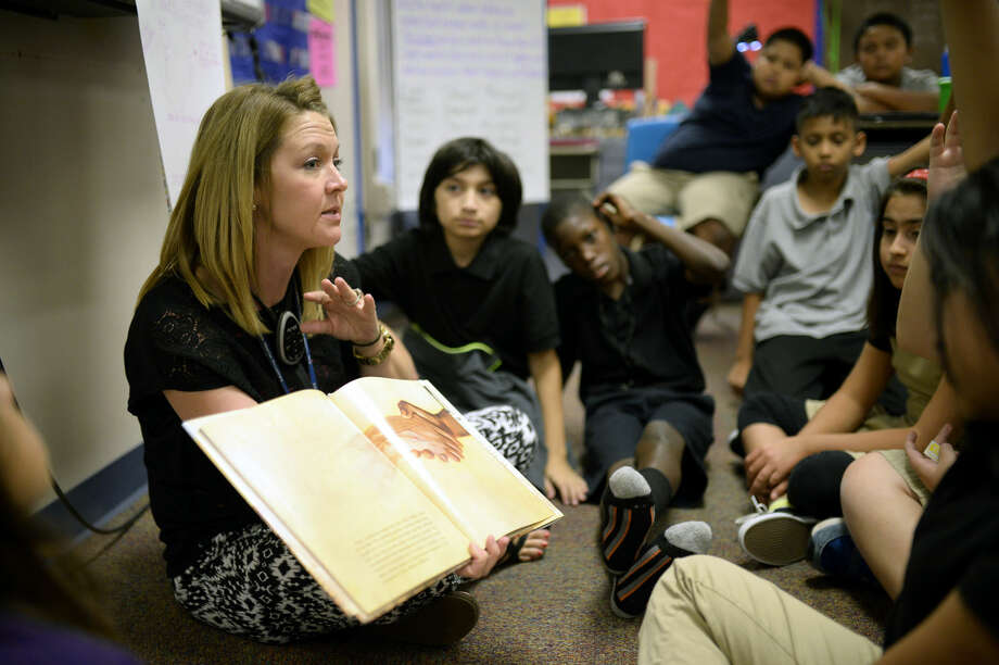 """Laura Abbott Doughtyfifth-grade teacher at Houston Elementary.""""I want my students to know their self-worth is what they deem it to be. Nobody or anything can steal their sunshine unless they allow them to. Each student has different strengths and abilities and what they choose to do with them is what will make them great."""" Photo: James Durbin"""