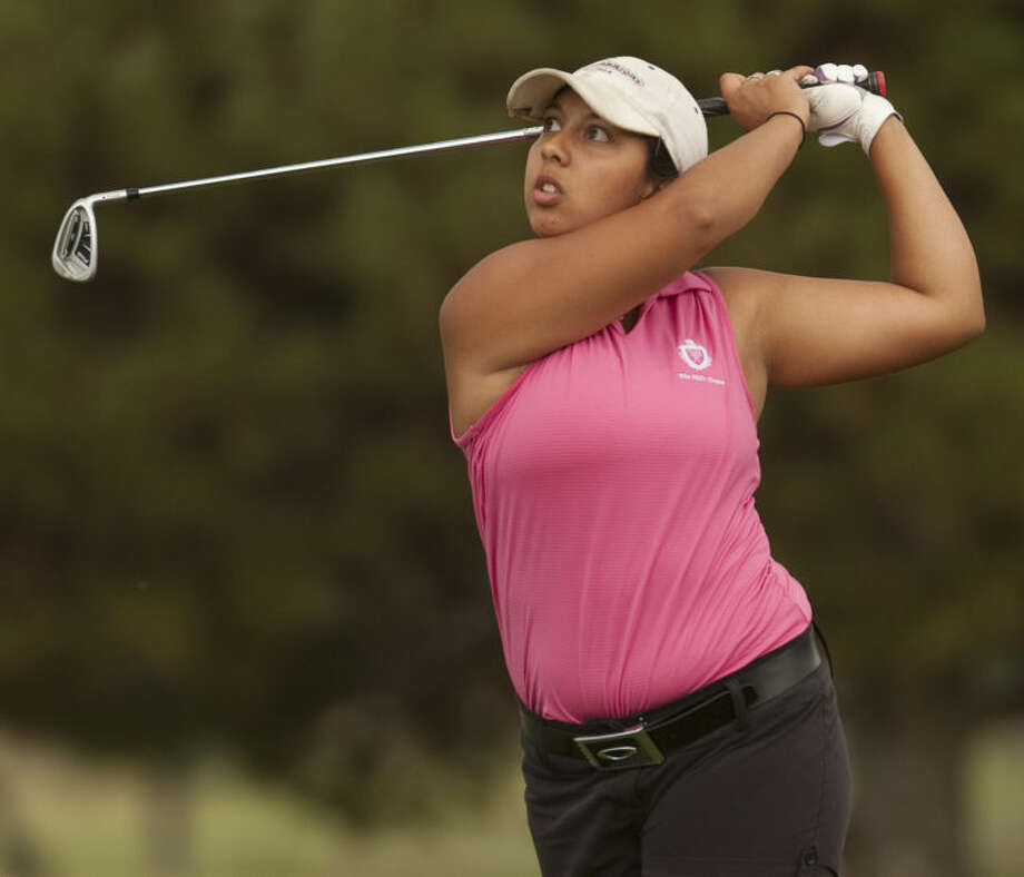 Christian Curnutte watches her shot Thursday at Greentree Country Club in the finals of the Women' City Golf Tournament. Tim Fischer\Reporter-Telegram Photo: Tim Fischer