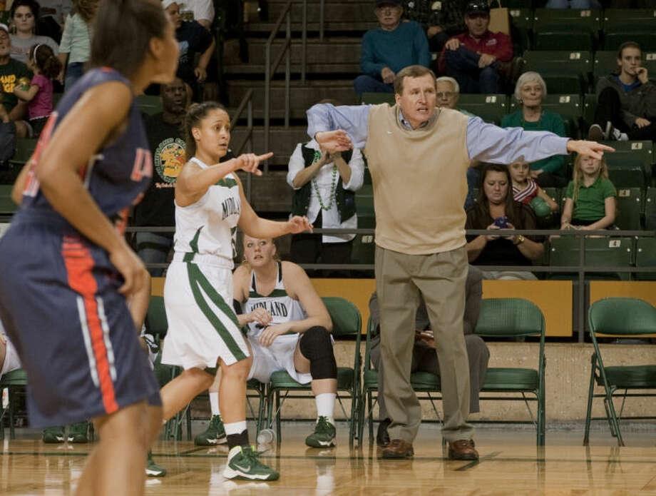 MC women's coach Ron Jones directs his team in a game last season at the Chaparral Center. Tim Fischer\Reporter-Telegram Photo: Tim Fischer