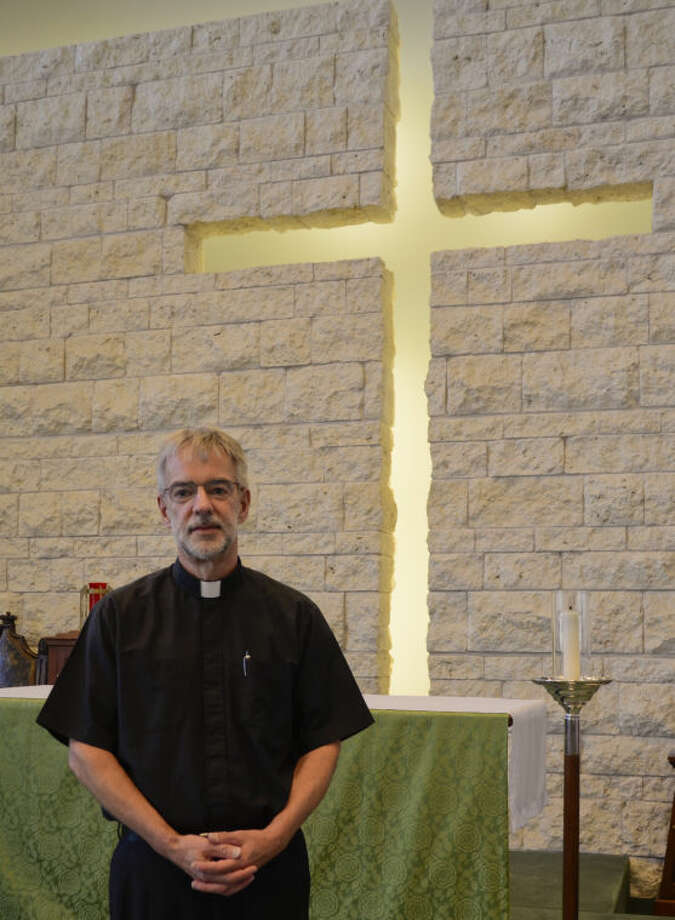 Rev. David Huxley,  pastor at St. Nicholas Episcopal Church. Tim Fischer\Reporter-Telegram Photo: Tim Fischer