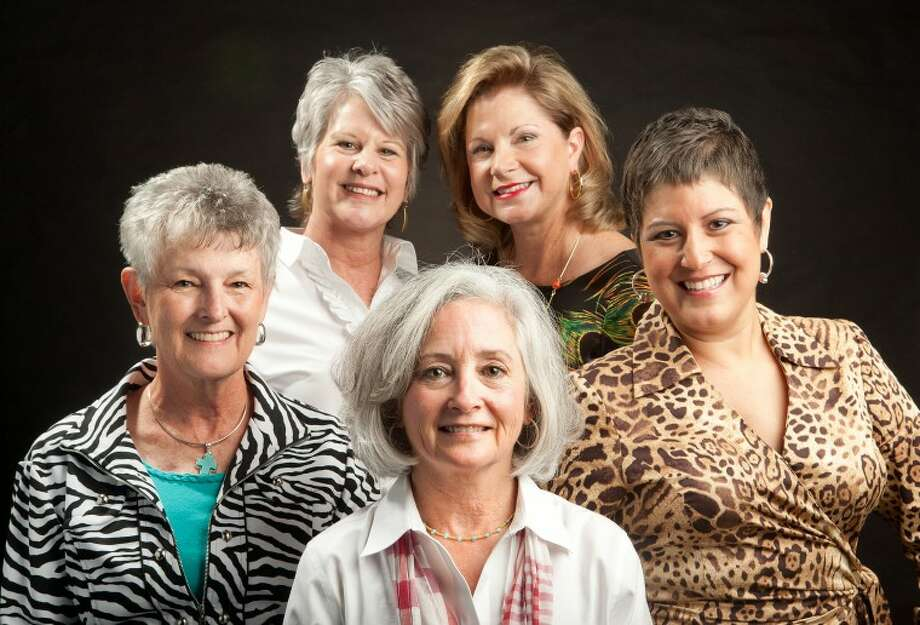 Cindy Moats, from top left going clockwise, Beth Brimer, Leticia Reinke, Ann Hover, and Patsy Childress are all breast cancer survivors. Cindeka Nealy/Reporter-Telegram Photo: Cindeka Nealy