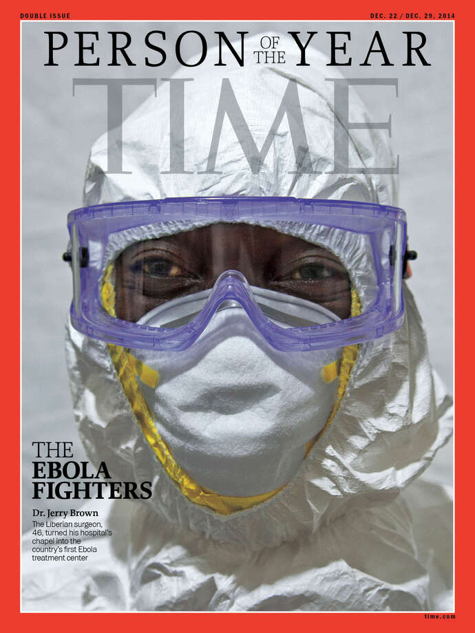 Time magazine announced Wednesday that Ebola fighters are its Person of The Year for 2014.  Photo: AP Photo/Time Magazine