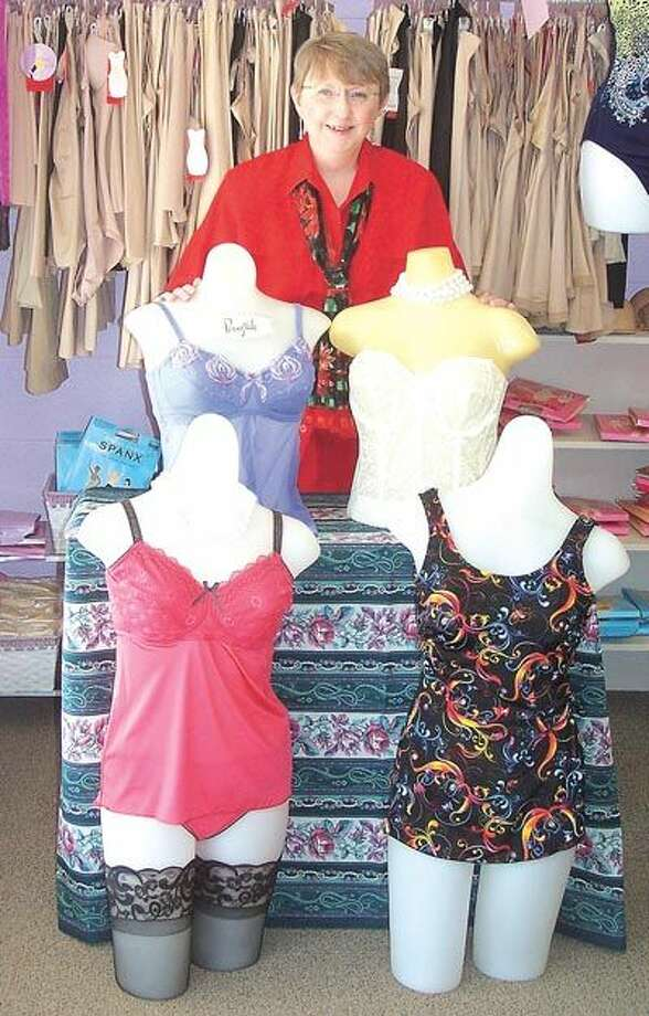 Pennyrich owner Sharon Wilcox can fit you in a swimsuit for a holiday cruise, or in a variety of undergarments including mastectomy bras and more. She is at 311 Dodson Street in Old Town Midland.