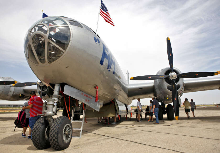 Fifi, the only flying B-29 Superfortress in the world, on display at the Mustang Stampede car show Saturday at the CAF. James Durbin/Reporter-Telegram Photo: James Durbin