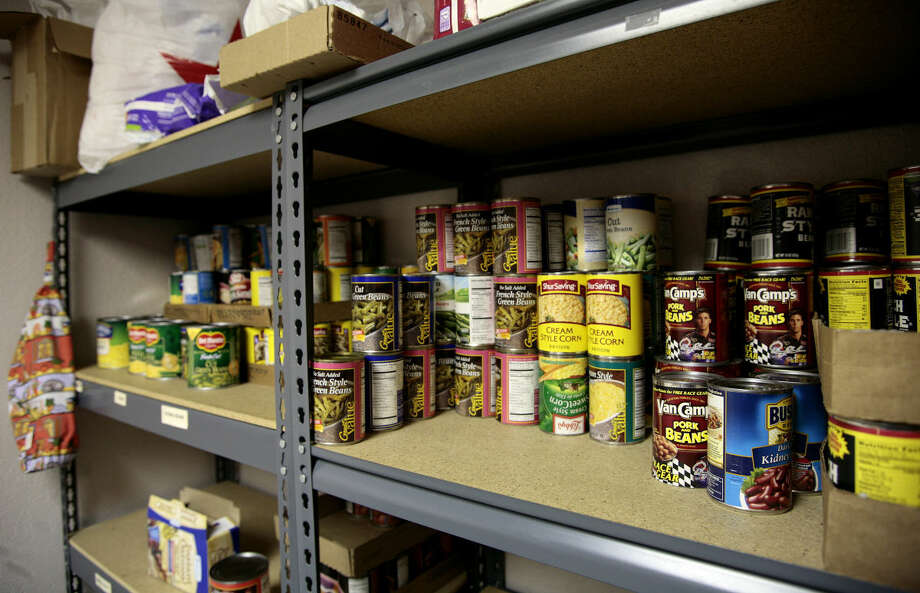 St. Andrews Presbyterian Mission keeps a small food pantry for emergency use, shown in this MRT file photo. Photo: Midland