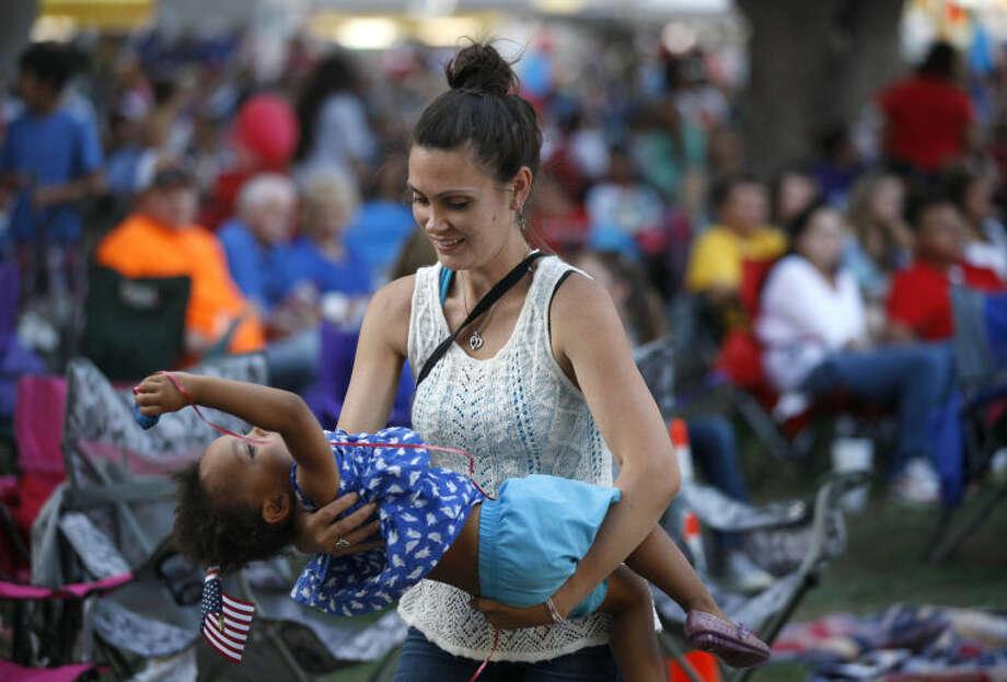Star-Spangled Salute in July 2014 at Centennial Plaza. James Durbin/Reporter-Telegram Photo: James Durbin