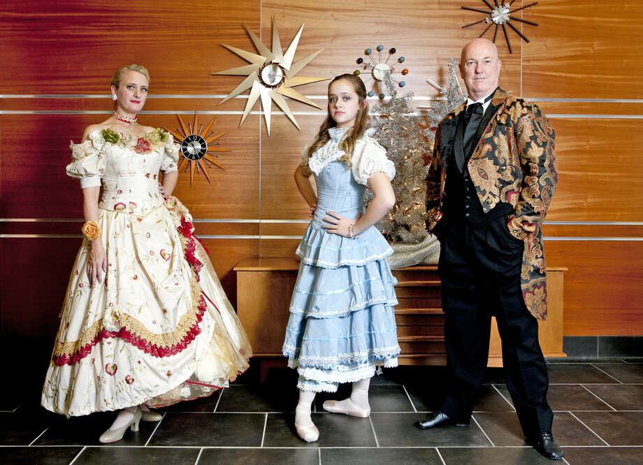 "Cast members from ""The Nutcracker"" are photographed Dec. 12, in the lobby of Midland Tower on Wall Street. James Durbin/Reporter-Telegram Photo: James Durbin"