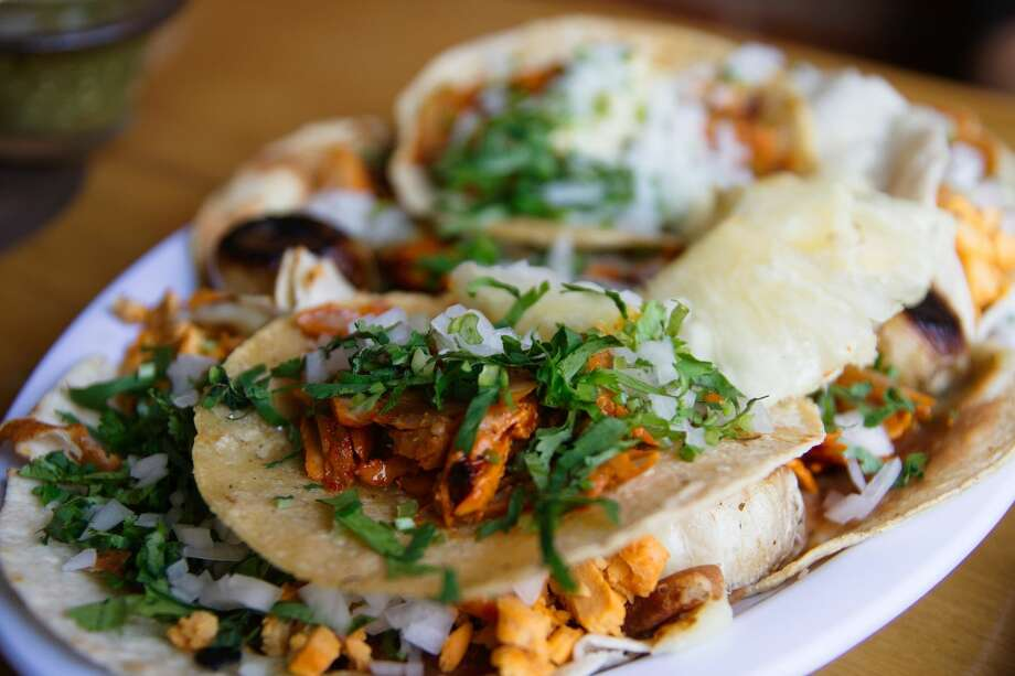 Taco deVino will serve up gourmet tacos similar to the ones pictured above. The quick casual taco restaurant, expected to open before Thanksgiving, will be located on West Oak Avenue, just east of North Big Spring Street, in close proximity to La Bodega, Gerardo's Casita and Rosa's. Photo: Creative Commons Photo