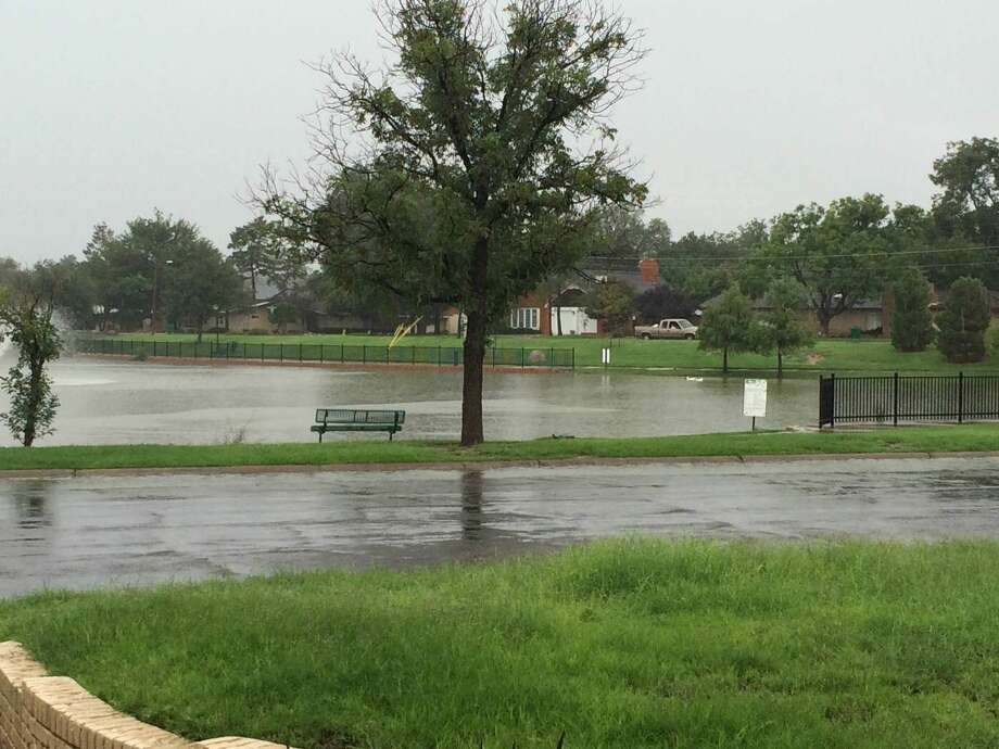 A reader-submitted photo shows recent rains filling up the Wadley Baron duck pond in Midland Photo: Courtesy Photo